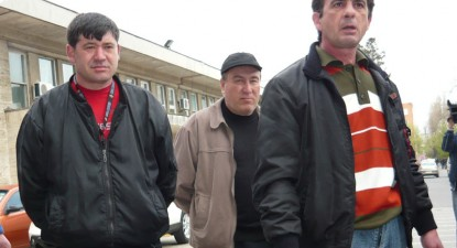 Foto: Paznicii Spitalului Jude�ean se preg�tesc de protest