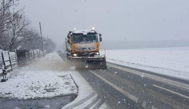 Ninge în județul Constanța. Drumarii acționează pe șosele - 8485aeb0e2244ec9afcbdaf854ecb592-1610184185.jpg