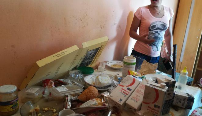 Foto: CASA GROAZEI! Femeia care și-a abandonat copiii într-un focar de infecţie a fost reținută