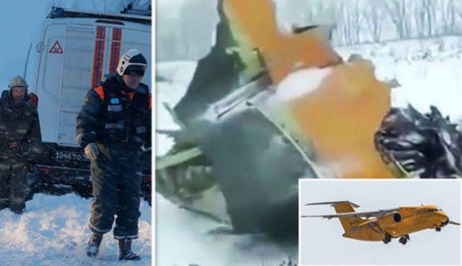Foto: Informații noi despre avionul prăbușit în Rusia, după ce a fost găsită cutia neagră