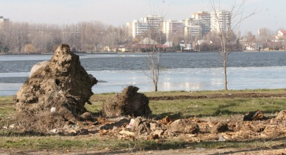 Foto: Parcul Tăbăcărie - locul unde copiii se joacă printre ruine şi gunoaie