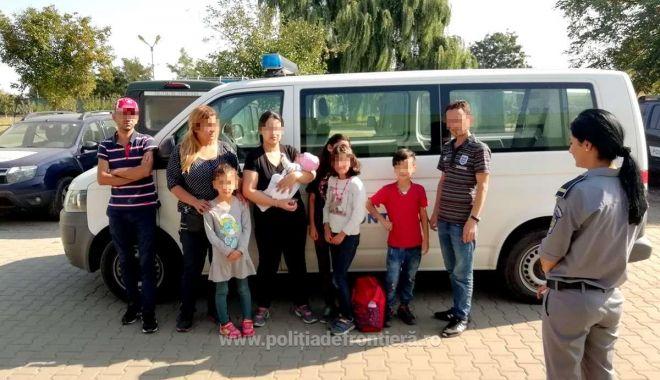 Foto: Nouă cetățeni irakieni, opriţi de poliţiştii de frontieră din drumul spre vestul Europei