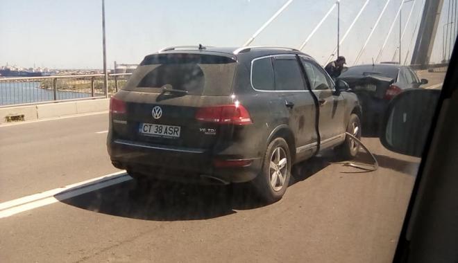 Foto: ACCIDENT RUTIER PE PODUL NOU DE LA AGIGEA! Traficul este blocat / UPDATE