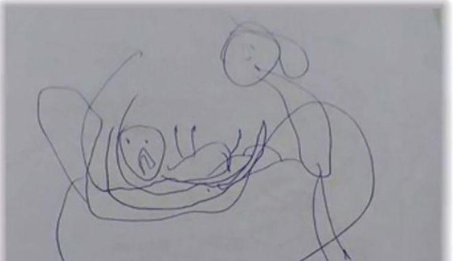 Foto: PREOT ARESTAT DUPĂ CE AR FI VIOLAT O COPILĂ! Fetiţa de 5 ani a desenat calvarul prin care a trecut