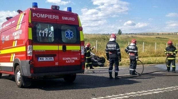 Foto: Accident rutier în Constanța pe DN 22, între popasul Tașaul și Tariverde. O victimă