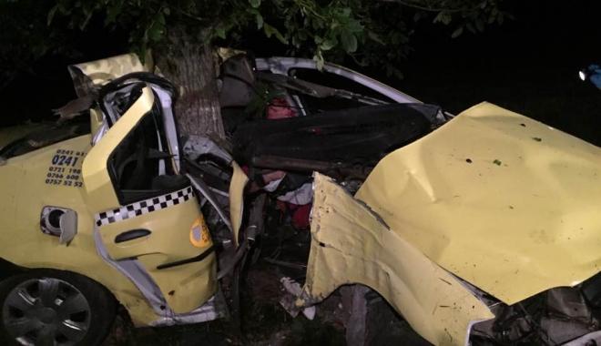Foto: GRAV ACCIDENT RUTIER, la Constanţa. Un taximetrist şi-a pierdut viaţa