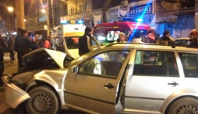 Foto: Galerie foto. Accident soldat cu patru victime, în Constanţa