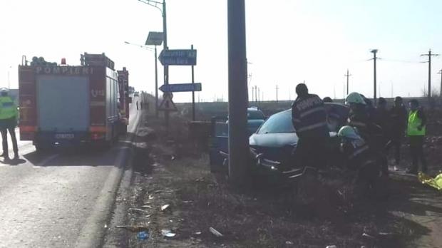 Foto: TRAGEDIE RUTIERĂ pe A2. O femeie a murit, alte trei persoane au fost rănite