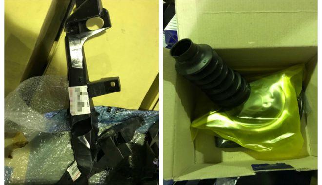 Foto: Accesorii auto contrafăcute, confiscate în Portul Constanţa Sud Agigea