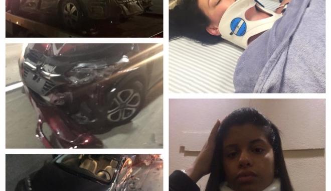 Foto: Soţia şi fiica unui mare fotbalist au fost implicate într-un grav accident de circulaţie