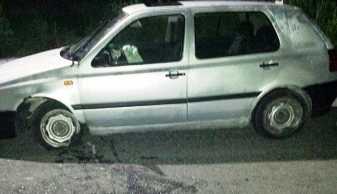 Foto: Accident produs de un şofer beat, fără permis