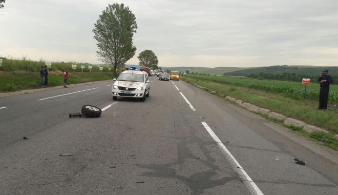 Foto: Două handbaliste au fost rănite într-un accident produs pe DN 1