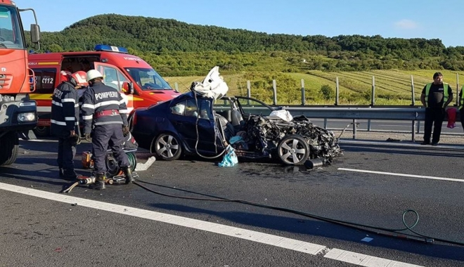 Foto: ACCIDENT RUTIER GRAV PE A2 / Victimele sunt în continuare în STARE CRITICĂ