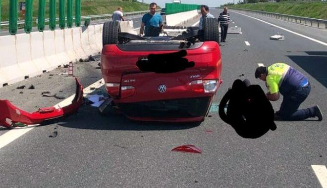 Accident grav pe Autostrada Soarelui. Intervine elicopterul SMURD