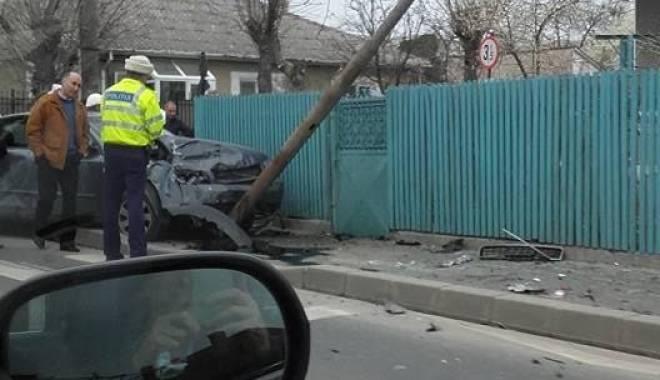 Foto: Accident rutier spectaculos la Eforie