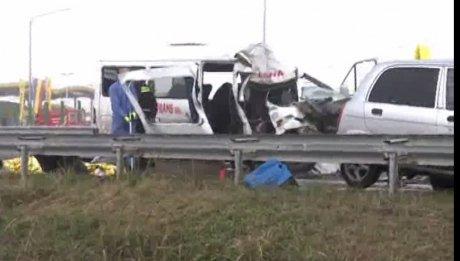 Foto: Accident rutier grav. Sunt 6 victime și a fost activat Planul Roșu de Intervenție