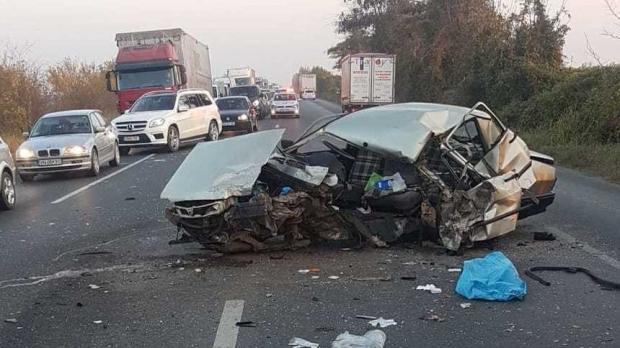 Foto: TRAGEDIE RUTIERĂ pe DN 2! Un bărbat a murit şi altul a fost rănit