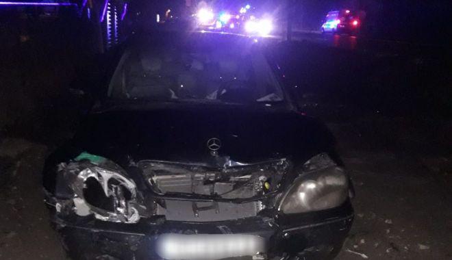 Foto: Accident la Eforie. A condus beat şi cu permisul suspendat
