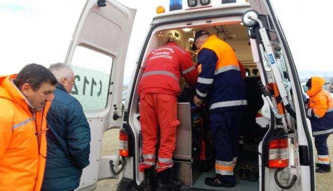 Foto: Angajaţi accidentaţi  la locurile  de muncă
