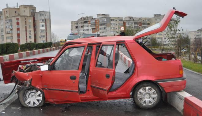 Foto: Accident rutier  din cauza  condiţiilor meteo