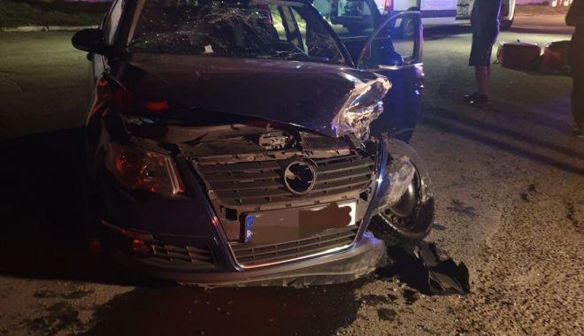 Foto: Accident cu șapte victime, într-o curbă periculoasă din județul Constanța