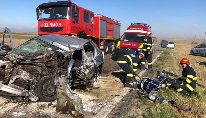 Foto: Accident grav între Hârșova și Stupina