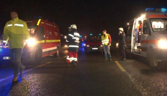 Foto: Accident rutier pe Autostrada Soarelui. O persoană a fost rănită