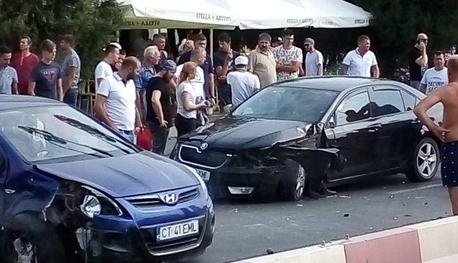 Foto: Accident rutier în Mamaia, soldat cu o victimă
