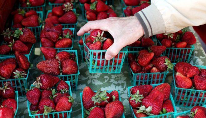 Foto: Ace în căpşunile de la supermarket. Scandalul ia amploare