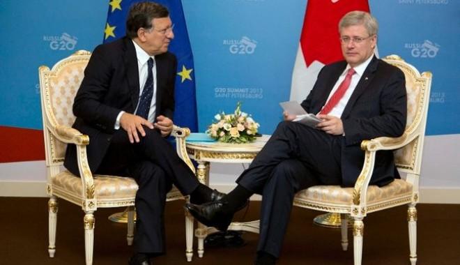 Foto: UE şi Canada, acord de liber schimb, după patru ani de negocieri