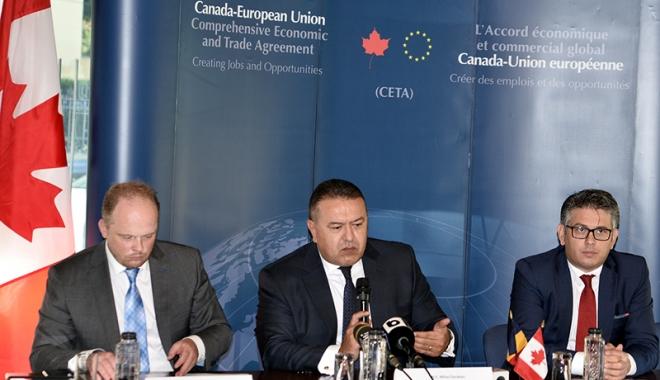 """Foto: """"Acordul CETA deschide drumul companiilor româneşti pe piaţa Canadei"""""""