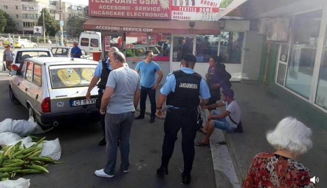 Foto: RAZII în pieţele constănţene! Poliţiştii constănţeni şi jandarmii au dat zeci de sancţiuni