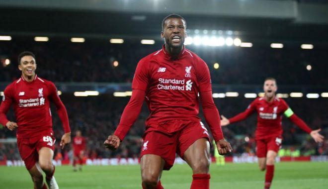 Foto: Liverpool - Barcelona | Nebunie pe Anfield. Rezerva Wijnaldum, dublă istorică împotriva Barcelonei