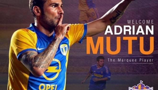 Foto: Fotbal / Adrian Mutu, prezentat oficial de FC Pune City pe Skype