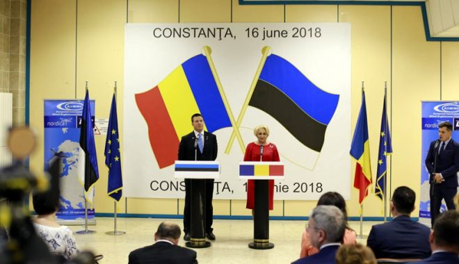 Foto: Premierul Viorica Dăncilă a inaugurat ruta Tallinn - Constanța