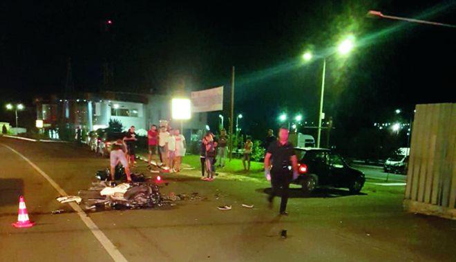 Foto: A fost arestat bărbatul care l-a accidentat mortal pe motociclistul din Valu lui Traian