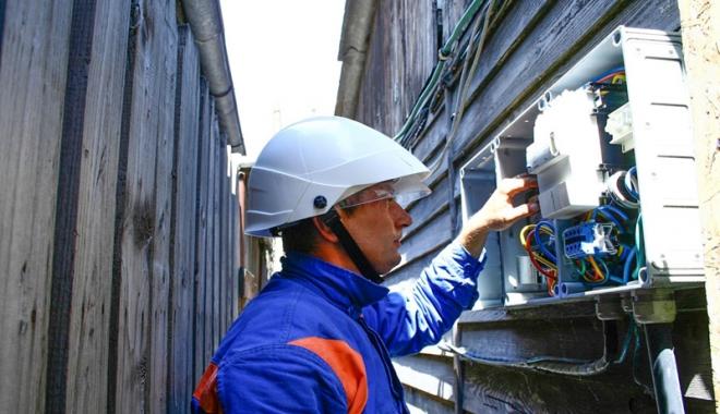 Foto: A început  modernizarea  reţelei electrice  de la Constanţa