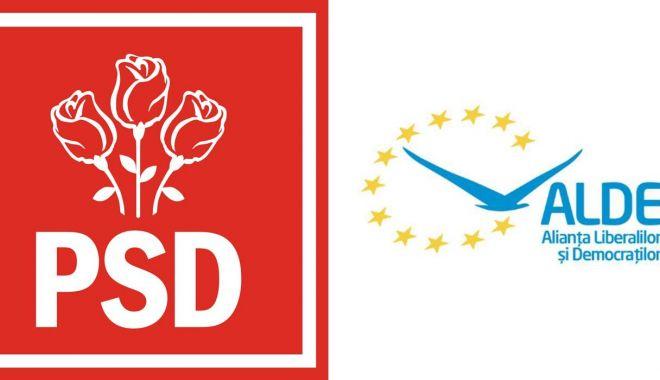 Foto: Şedinţă a Coaliţiei PSD-ALDE, de la ora 15, la Parlament, după o întâlnire fulger Dragnea - Tăriceanu