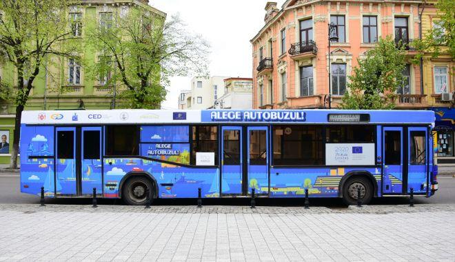 """Foto: """"Alege autobuzul"""", o campanie inițiată de Primăria Constanța"""