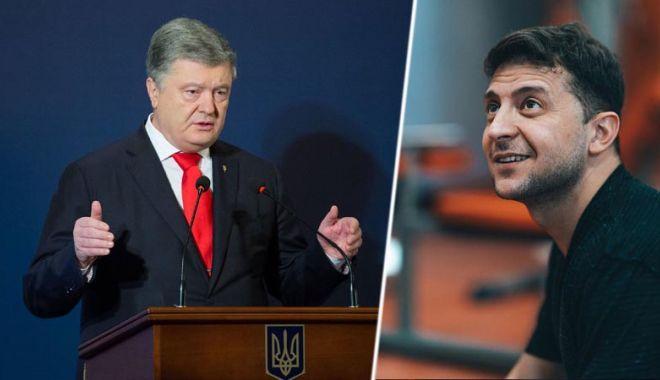 Foto: Alegeri în Ucraina. Zelenski şi Poroşenko se menţin pe primele două poziţii