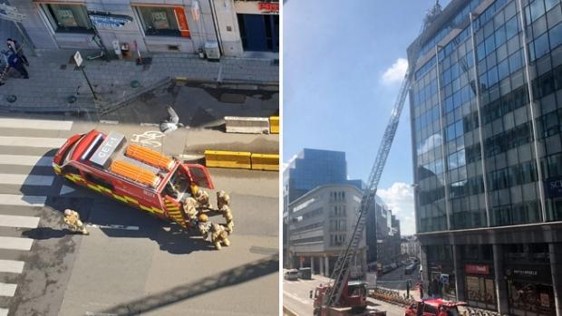 Foto: Alertă cu bombă la Bruxelles, în apropierea sediului Uniunii Europene