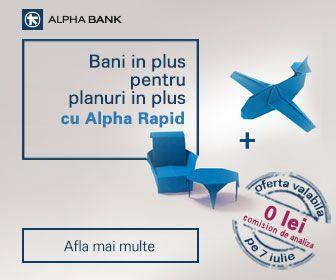 Foto: Campanie promoţională la Alpha Bank. Iată ce le oferă banca clienţilor săi