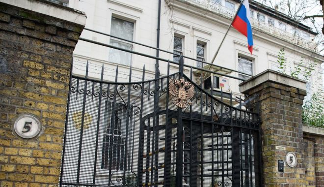 Foto: Ambasada Rusiei  la Londra reproşează britanicilor  lipsa de informaţii