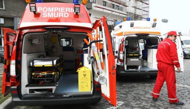 Foto: Accident rutier la Constanţa, din cauza unui şofer care nu a oprit la STOP