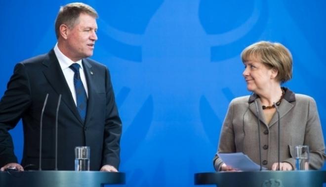 Foto: Iohannis, la Berlin / Primele reacţii despre criza politică din România