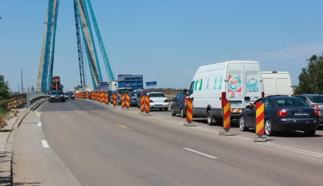 Foto: Anun� important! Cum se va circula pe podul de la Agigea