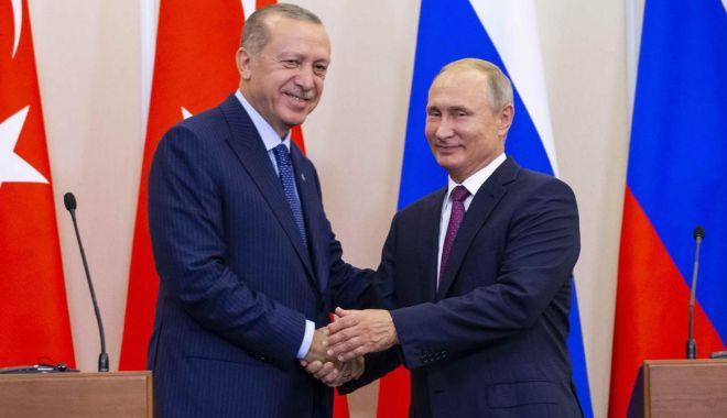 Foto: Apărarea aeriană, pe agenda discuţiilor dintre Putin şi Erdogan
