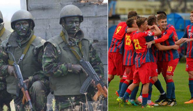 Foto: Ţurcă sau apărare? Armata nu le dă militarilor vouchere de vacanţă, dar cheltuie banii pe fotbal!