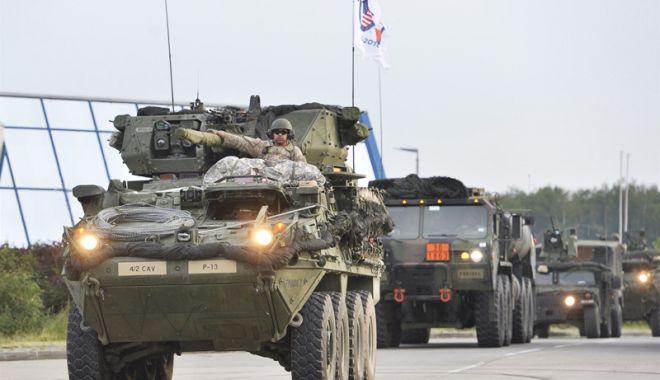 Foto: Armata americană, exerciţiu multinaţional pe flancul estic al NATO