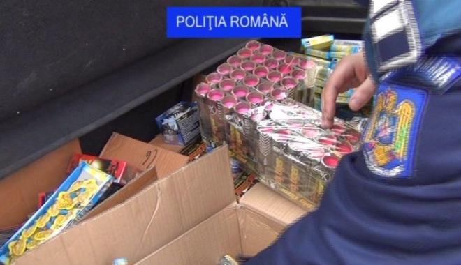 Foto: Polițiștii sunt cu ochii pe comerțul cu petarde și artificii